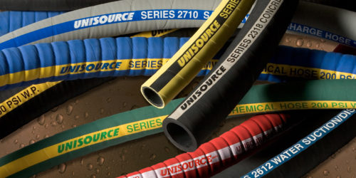 Collage of Unisource industrial hose
